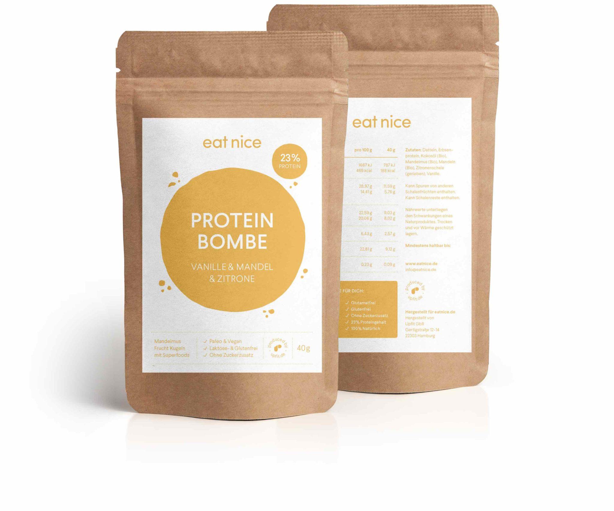 Eat Nice Proteinbombe Protein Eiweiss